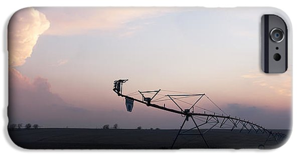 Nebraska iPhone Cases - Pivot Irrigation and Sunset iPhone Case by Art Whitton