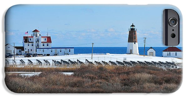New England Lighthouse iPhone Cases - Point Judith Light iPhone Case by Catherine Reusch  Daley