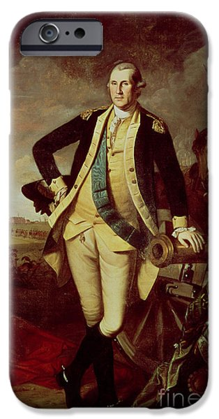 Copy iPhone Cases - Portrait of George Washington iPhone Case by Charles Willson Peale