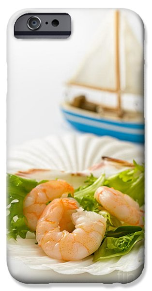 Toy Boat iPhone Cases - Prawn Salad iPhone Case by Amanda And Christopher Elwell
