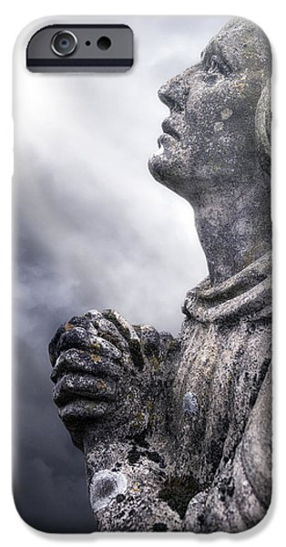 Mourning iPhone Cases - Praying iPhone Case by Joana Kruse