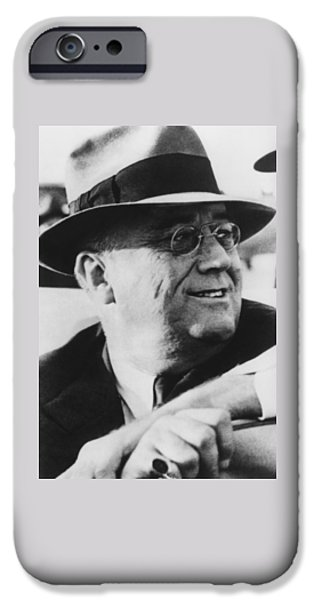 Democrat iPhone Cases - President Franklin Roosevelt iPhone Case by War Is Hell Store