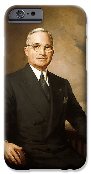Ems iPhone Cases - President Harry Truman iPhone Case by War Is Hell Store
