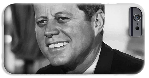 Democrat iPhone Cases - President Kennedy iPhone Case by War Is Hell Store