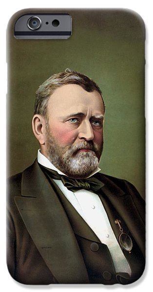 President iPhone Cases - President Ulysses S Grant iPhone Case by War Is Hell Store