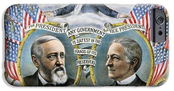 Morton iPhone Cases - Presidential Campaign, 1888 iPhone Case by Granger