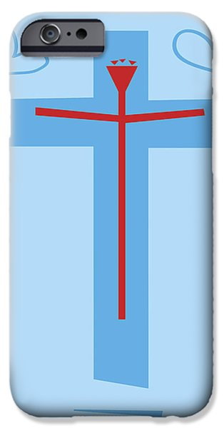 Jesus Drawings iPhone Cases - Love Finds Itself in Strange Places iPhone Case by Damien Green