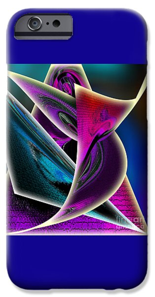 Blue Abstracts iPhone Cases - Print iPhone Case by Iris Gelbart