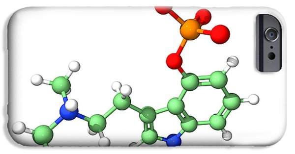 Biochemical iPhone Cases - Psilocybin Hallucinogen Molecule iPhone Case by Dr Tim Evans