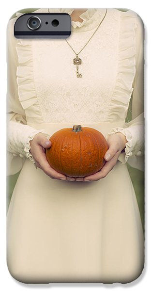 Young Photographs iPhone Cases - Pumpkin iPhone Case by Joana Kruse