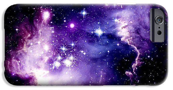 Stellar iPhone Cases - Purple Space iPhone Case by Johari Smith