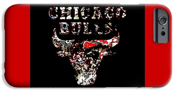 Chicago Bulls Mixed Media iPhone Cases - Raging Bulls iPhone Case by Brian Reaves