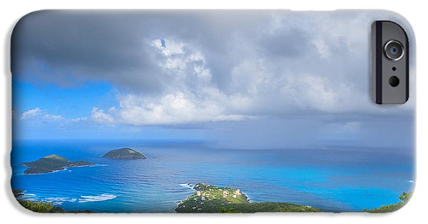 Raining iPhone Cases - Rain in the Tropics iPhone Case by Keith Allen