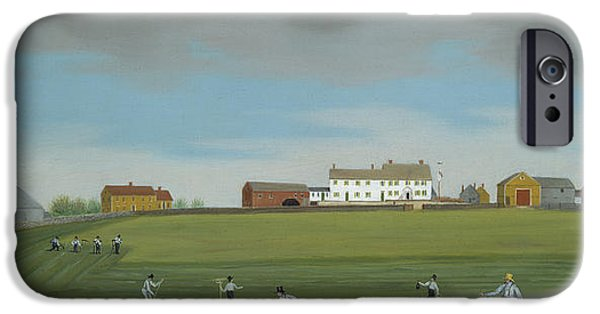 Quaker Paintings iPhone Cases - Ralph Wheelocks Farm iPhone Case by Francis Alexander