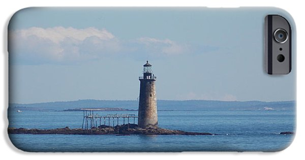 Ledge iPhone Cases - Rams Island Ledge iPhone Case by Catherine Gagne