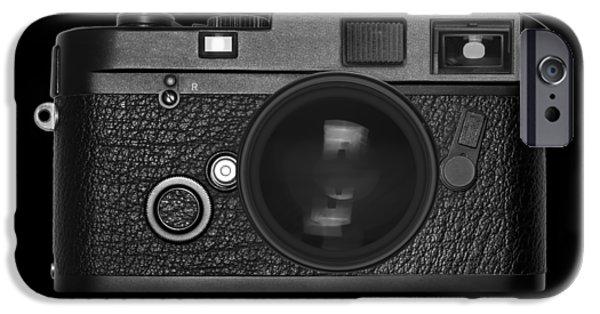 Aperture iPhone Cases - Rangefinder Camera iPhone Case by Setsiri Silapasuwanchai