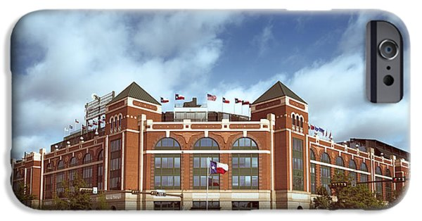 Baseball Stadiums iPhone Cases - Rangers Ballpark in Arlington iPhone Case by Joan Carroll