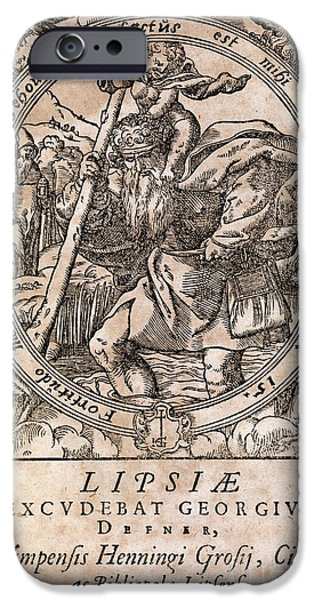 Saint Christopher iPhone Cases - Rantzaus Astrology Book, 1584 Edition iPhone Case by Middle Temple Library