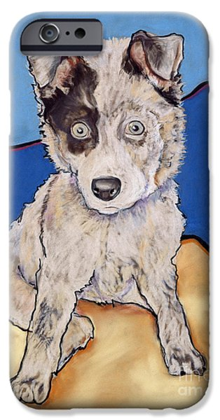 Recently Sold -  - Puppies iPhone Cases - Reba Rae iPhone Case by Pat Saunders-White