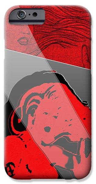 Multiple Personalities iPhone Cases - Red and Restless iPhone Case by Michelle Rene Goodhew