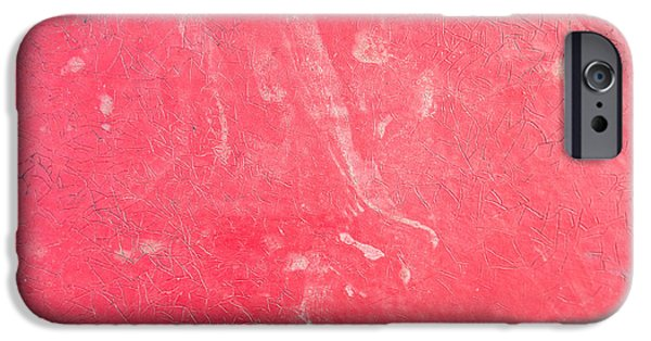 Torn iPhone Cases - Red plastic iPhone Case by Tom Gowanlock