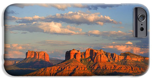 Best Sellers -  - Cathedral Rock iPhone Cases - Red Rocks sunset iPhone Case by Alexey Stiop
