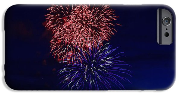 4th July Photographs iPhone Cases - Red White And Blue iPhone Case by Robert Bales