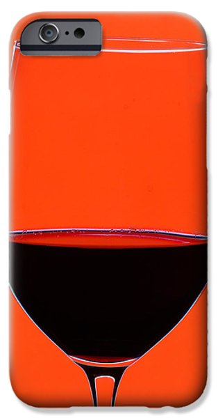 Red Wine iPhone Cases - Red Wine Glass iPhone Case by Frank Tschakert