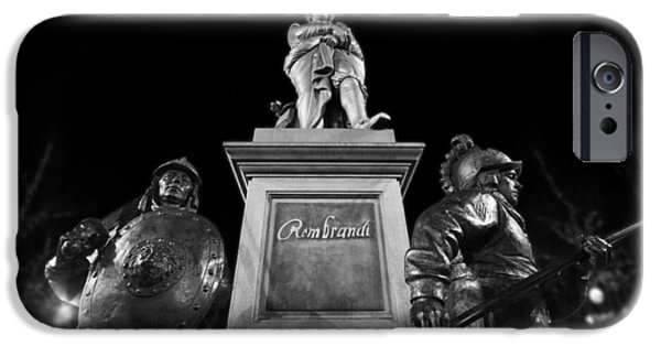 Painter Photographs iPhone Cases - Rembrandt in Amsterdam iPhone Case by Skitterphoto