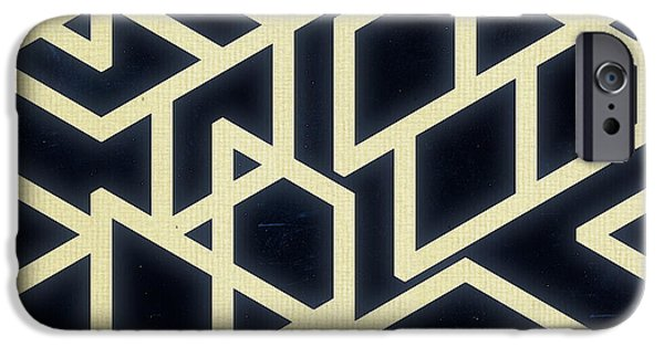 Abstract Digital Art iPhone Cases - Retro 50s iPhone Case by Anita Fugoso
