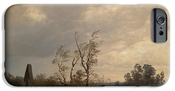 Approaching Storm iPhone Cases - Returning Home before an Approaching Storm iPhone Case by Josef Wenglein
