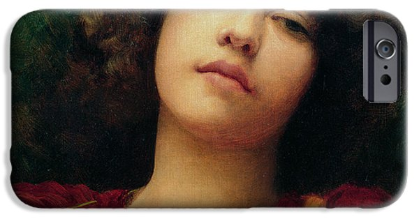 Daydream iPhone Cases - Reverie iPhone Case by John William Godward