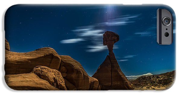 White House iPhone Cases - Rim Rock Toadstools Grand Staircase National Monument  iPhone Case by Larry Marshall