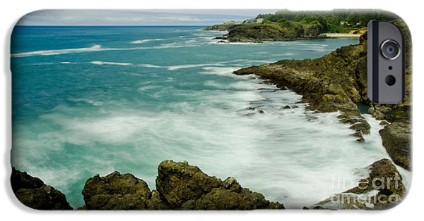 Power iPhone Cases - Rocky Point Seascape iPhone Case by Nick  Boren