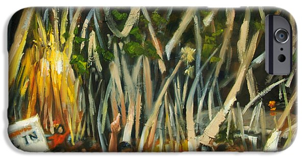 Toomers Corner iPhone Cases - Rolling Toomers iPhone Case by Carole Foret