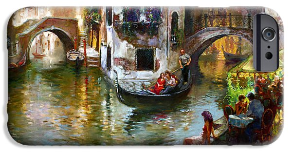 Venice iPhone Cases - Romance in Venice iPhone Case by Ylli Haruni