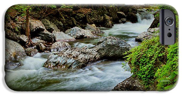 Tree Art Print iPhone Cases - Rushing Waters iPhone Case by Dave Bosse