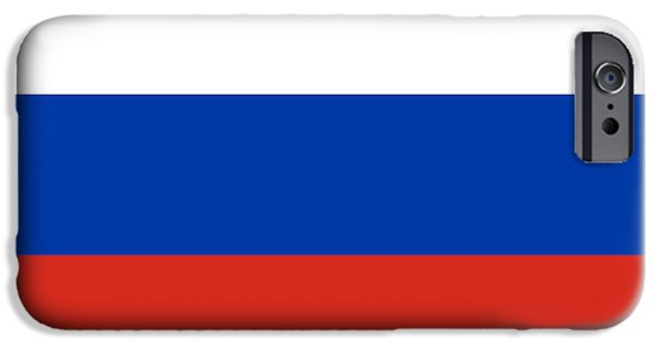 Flag iPhone Cases - Russia Flag iPhone Case by Frederick Holiday
