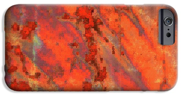 Abstract Digital Photographs iPhone Cases - Rust Abstract iPhone Case by Carol Groenen