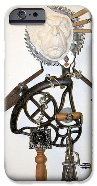 Fun Sculptures iPhone Cases - Rusty Around The Edges iPhone Case by Keri Joy Colestock