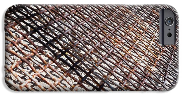 Stainless Steel Paintings iPhone Cases - Rusty Cage iPhone Case by Holly Anderson