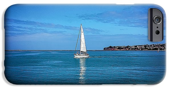 Sailboat Ocean iPhone Cases - Sailboat iPhone Case by Jody Lane
