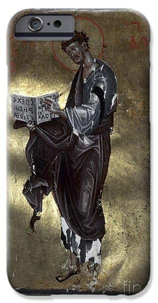 Orthodox Paintings iPhone Cases - Saint Luke iPhone Case by Granger