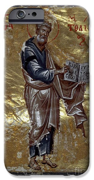 SAINT MATTHEW iPhone Case by Granger