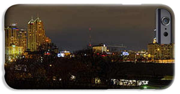 Sunset Photographs iPhone Cases - San Antonio Panorama iPhone Case by Tim Stanley