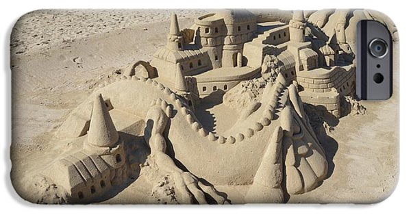 Tranquil Sculptures iPhone Cases - Sand sculpture iPhone Case by FL collection