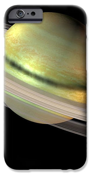 Saturn And Its Rings iPhone Case by Friedrich Saurer
