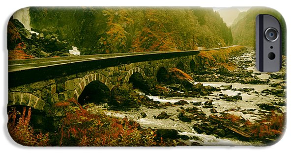 Norway iPhone Cases - Scenic Norway in Autumn iPhone Case by Jane Lund