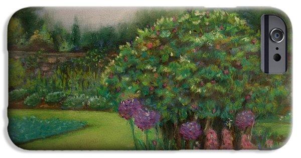 Botanical Pastels iPhone Cases - Scottish Garden iPhone Case by M J Venrick