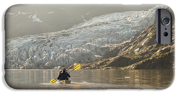 Bonding iPhone Cases - Sea Kayakers Paddling In Evening Light iPhone Case by Kevin Smith